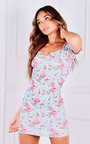 Mika Floral Cap Sleeve Mini Dress Thumbnail