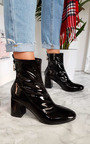 Mika Ring Block Heel Ankle Boots Thumbnail