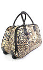 Mila Leopard Travel Trolley Bag  Thumbnail