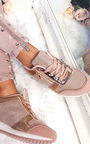 Mila Metallic Two Toned Zip Trainers  Thumbnail