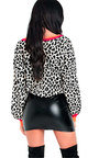 Mildred Knitted Leopard Print Jumper  Thumbnail