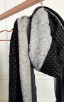 Millie Printed Scarf with Pom Pom Detail Thumbnail
