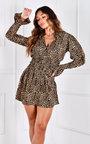Mimi Button Up V Neck Mini Dress Thumbnail