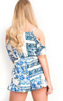 Mimi Floral Cut Out Shoulder Playsuit  Thumbnail