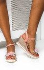 Mimi Flower Braided Wedged Heel Thumbnail