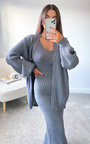Mimi Knitted Longline Dress & Cardigan Co-Ord Thumbnail