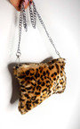 Mina Leopard Fluffy Shoulder Bag Thumbnail