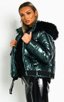 Mina Padded Faux Fur Hood Puffer Jacket Thumbnail