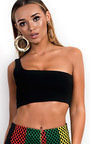 Mindy One Shoulder Crop Top Thumbnail
