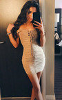 Mindy Ruched Off Shoulder Bodycon Dress Thumbnail
