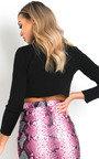 Minnie Faux Leather Skirt  Thumbnail