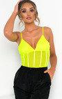 Mirrin Neon Mesh Bodysuit Thumbnail