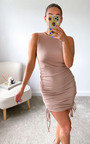 Misty Ruched Side Sleeveless Mini Dress Thumbnail