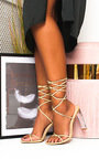 Misty Tie Up Perspex Heels Thumbnail