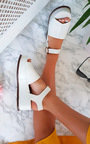 Miya Faux Leather Flatform Sandals Thumbnail