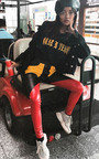 Miyka Biker Block Faux Leather Trousers Thumbnail