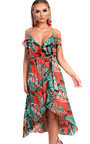 Miyka Tropical Maxi Dress Thumbnail