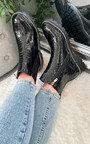 Moesha Croc Print Patent Ankle Boots Thumbnail