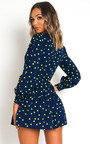Moirah Polka Dot Low Neck Dress Thumbnail