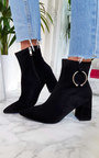 Mona Faux Suede Ring Ankle Boots Thumbnail