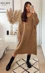 Monica Longline Knitted Maxi Dress Thumbnail