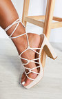 Monica Strappy Block High Heels  Thumbnail