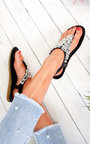 Monika Clustered Sequin Embellished Sandals Thumbnail