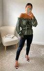 Monique Off Shoulder Satin Top Thumbnail