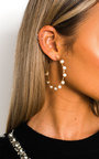 Myaa Pearl Hoop Earrings  Thumbnail