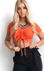 Mylo Ribbed Stripe Crop Top Thumbnail