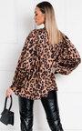 Nancy Tie Front Leopard Print Blouse Thumbnail
