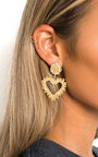 Nascera Statement Heart Earrings  Thumbnail