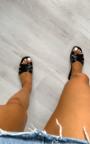 Natalie Faux Leather Slip On Sandals Thumbnail