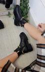 Natasha Chain Detail Chunky Ankle Boots Thumbnail