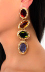 Neeka Multi Jewel Drop Earrings  Thumbnail
