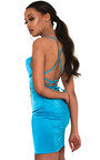 Neesa Satin Backless Mini Dress Thumbnail