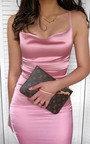 Neesa Satin Backless Mini Dress Thumbnail