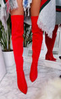 Nelli Stretch Thigh High Block Boots  Thumbnail