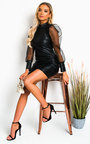 Nelly Faux Leather Mini Dress Thumbnail