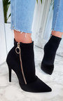 Nelly Lycra Heeled Ankle Boots Thumbnail