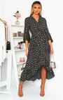 Nelly Printed Frill Maxi Dress Thumbnail