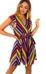 Nessa Frill Striped Dress Thumbnail