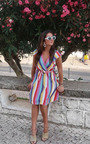 Nessa Frill Striped Dress Thumbnail