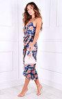 Nevina Printed Wrap Midi Dress Thumbnail