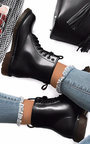 Newb Lace Up Biker Boots Thumbnail