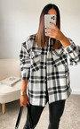 Nicole Checked Over Shirt Thumbnail