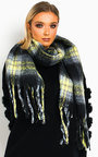 Nicole Fluffy Checked Print Scarf Thumbnail