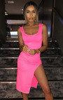 Nicole Side Split Midi Dress Thumbnail