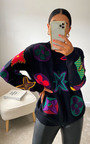 Nicolle Printed Graphic Knitted Jumper Thumbnail
