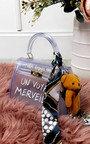 Niena Clear Slogan Handbag Thumbnail